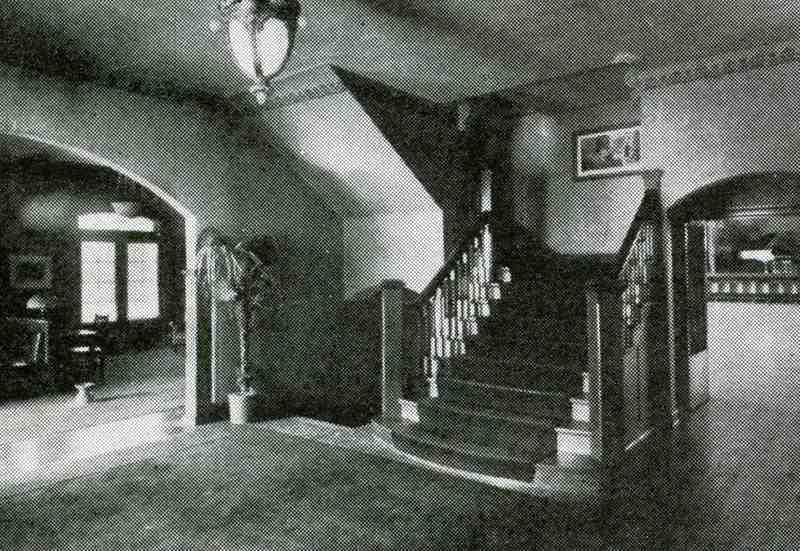 Tennis Club Lobby, ca. 1915