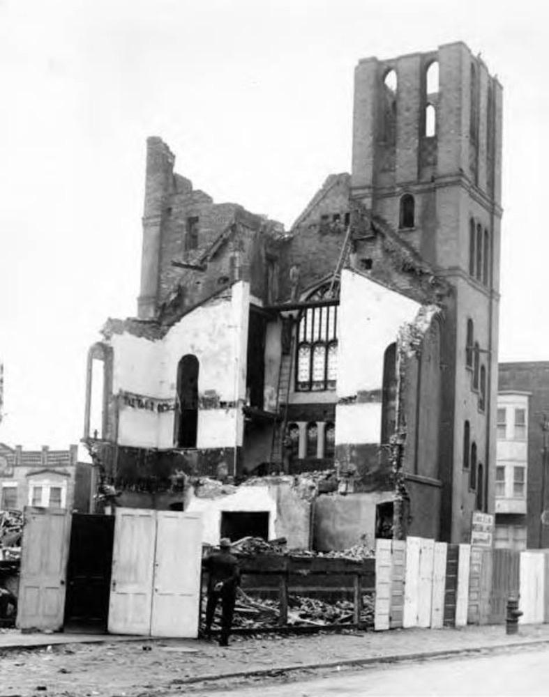 Demolition of Abyssinia Baptist Church, 1955