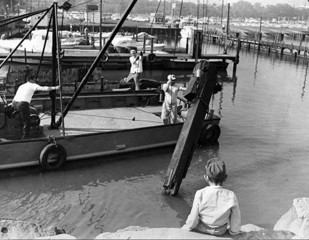 Scavenger Cleanup Along Lakefront, 1966