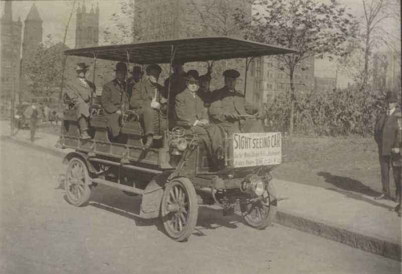 Sightseeing Car in Public Square, 1910