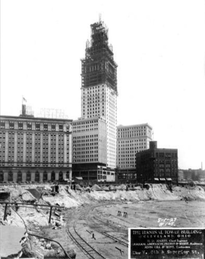 Terminal Tower Under Construction in 1927