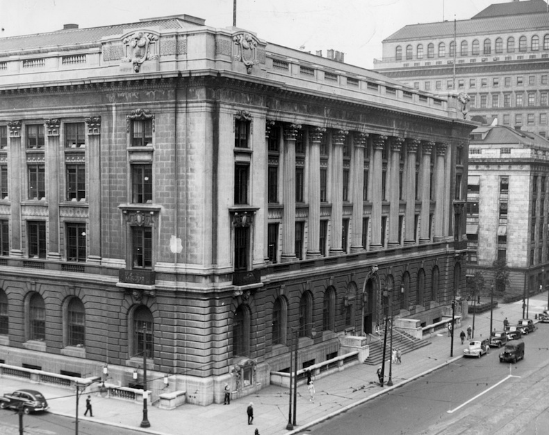 Main Library Looking East, 1940