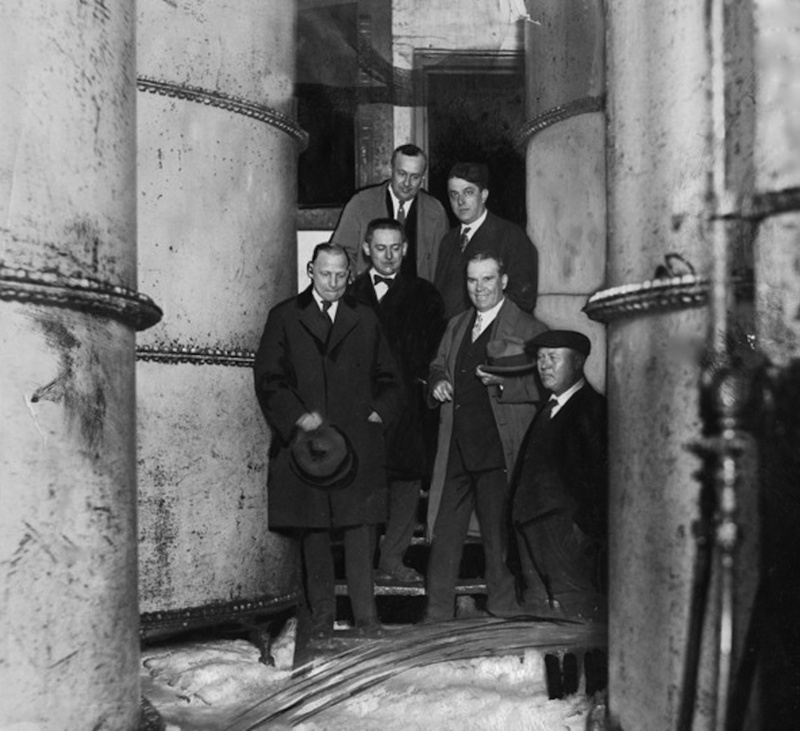 Prohibition Agents Watch As Leisy Shuts Down Operations, 1923