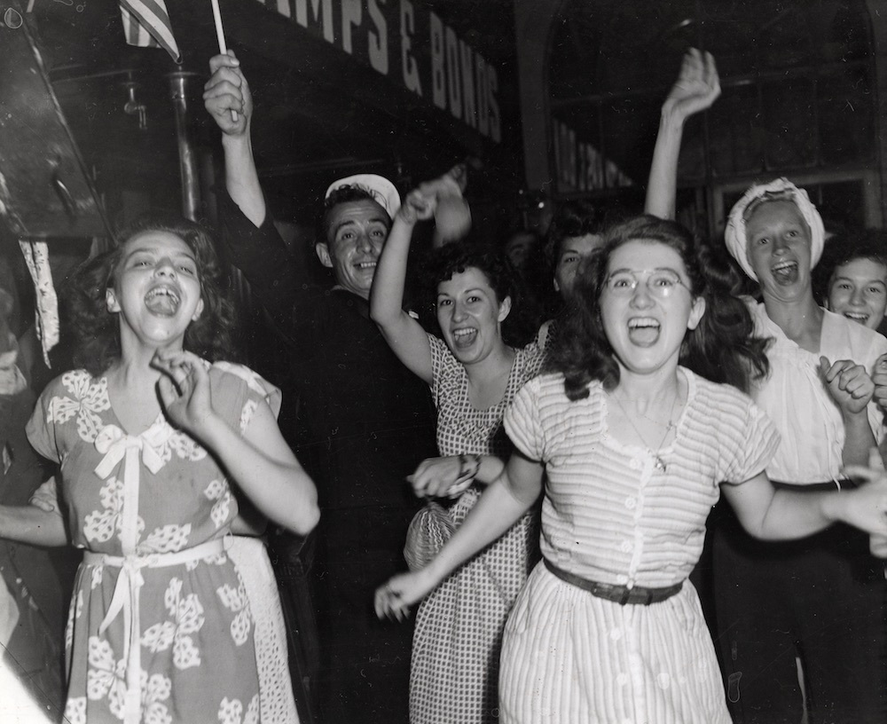 Cheering WWII Victory