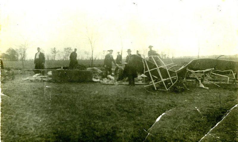Wreckage of Stefanik Plane