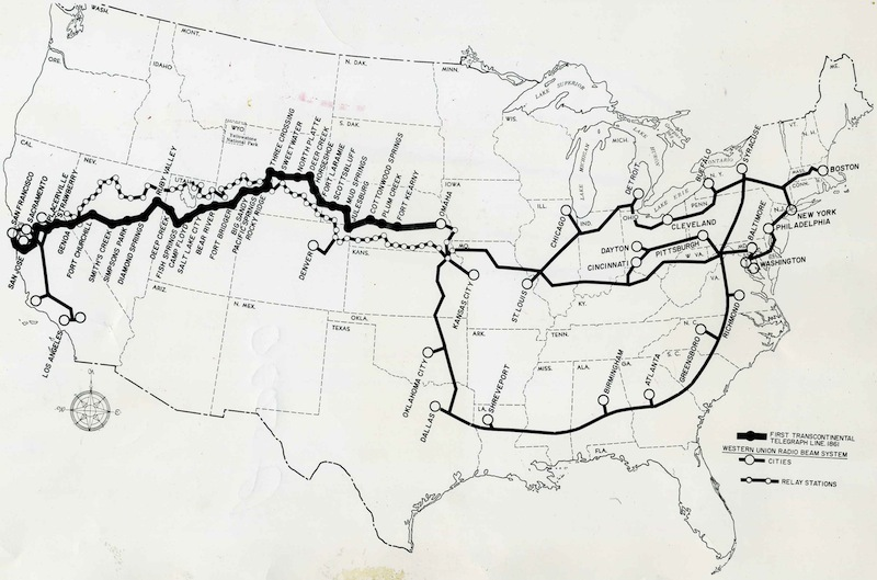 Lines of the Western Union Telegraph Company