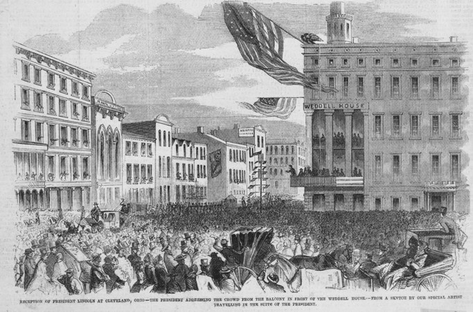 Reception of President Lincoln at Cleveland