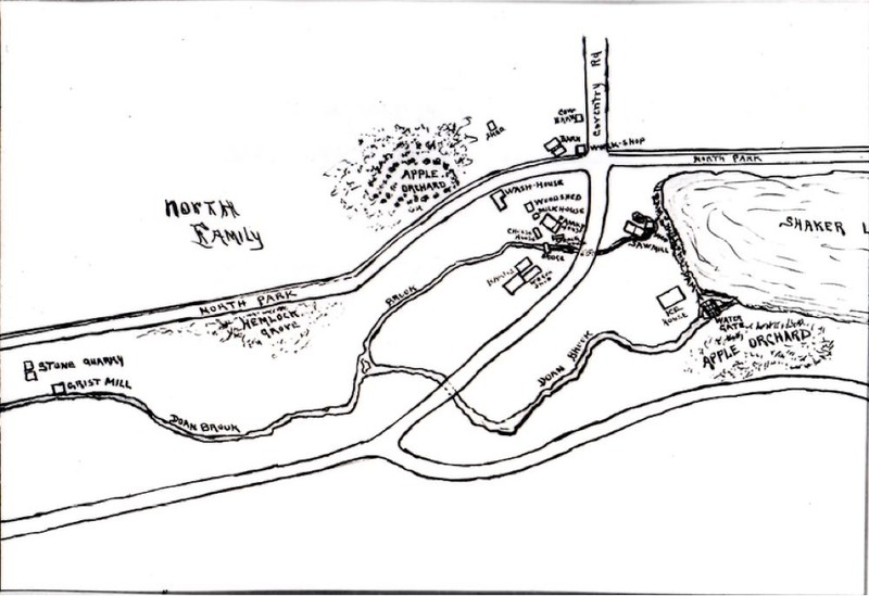 Hand-drawn North (Mill) Family Map.