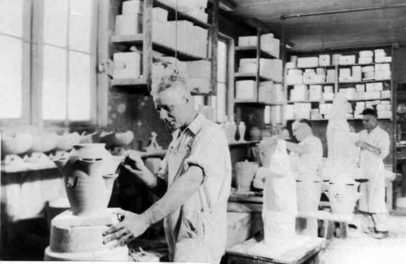 Workers at Cowan Pottery
