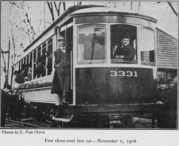 First Three Cent Fair Streetcar