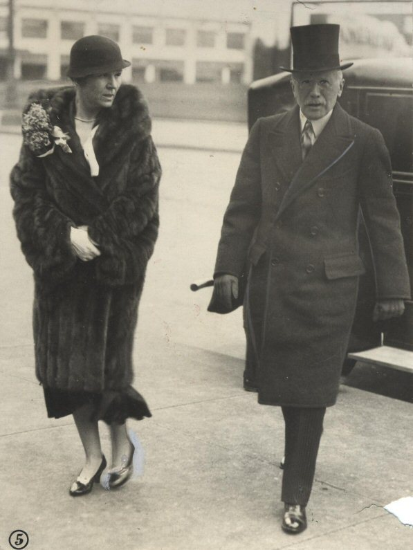 Mr. and Mrs. William G. Mather in 1932