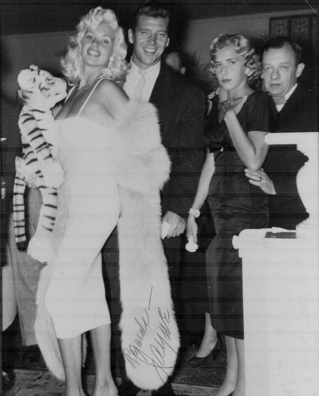Jayne Mansfield and Mickey Hargitay at Gruber's