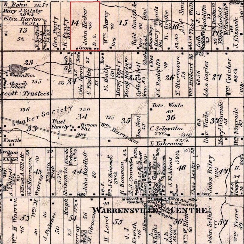 1874 Map of Warrensville Township