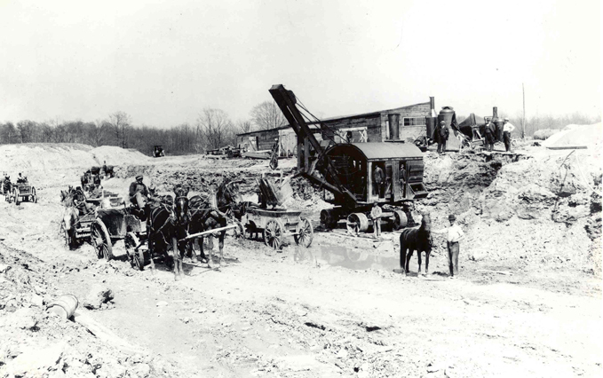Construction Begins on Nela Park, 1913