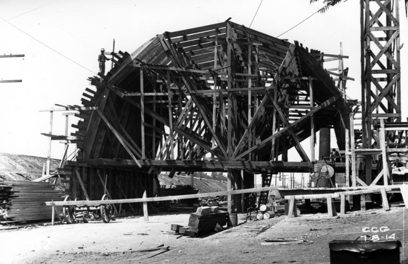 McCurdy Ave. Bridge Under Construction, 1914