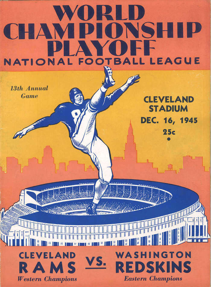 Cleveland Rams Game Program