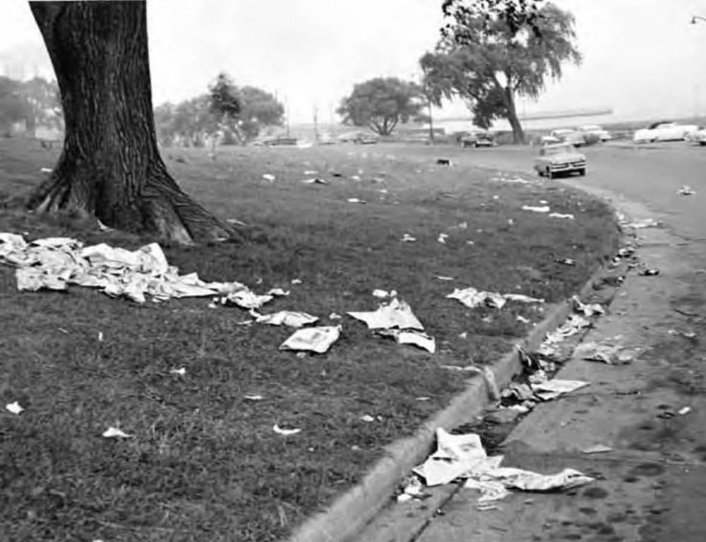 Trash in Gordon Park, 1957