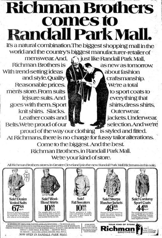 Richman Bros. Ad, 1976