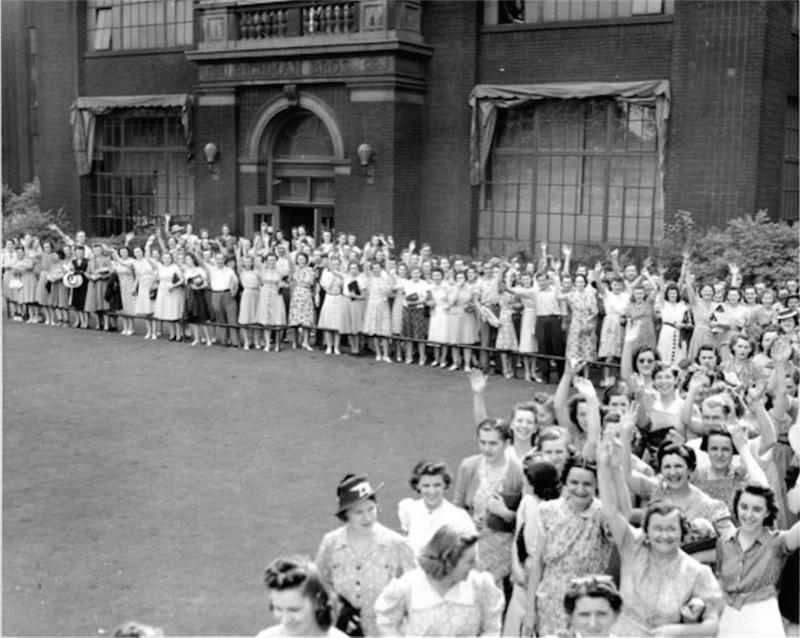 Employees Outside Factory, 1941
