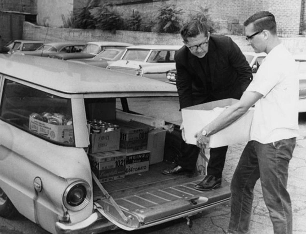 Delivering Food after Hough Riots, 1966