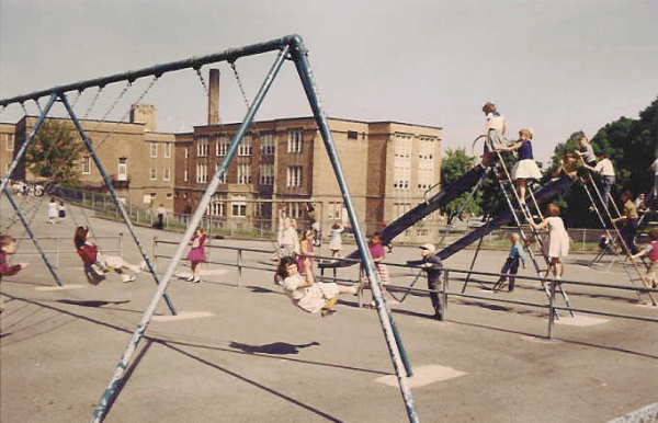 Coventry School Upper Playground, ca. 1958