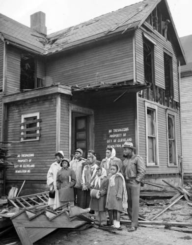 Demolition of Homes for Longwood Housing Development with Former Occupants, 1955