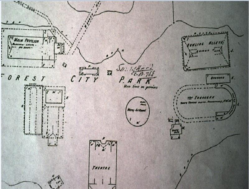 Forest City Park Map,1912