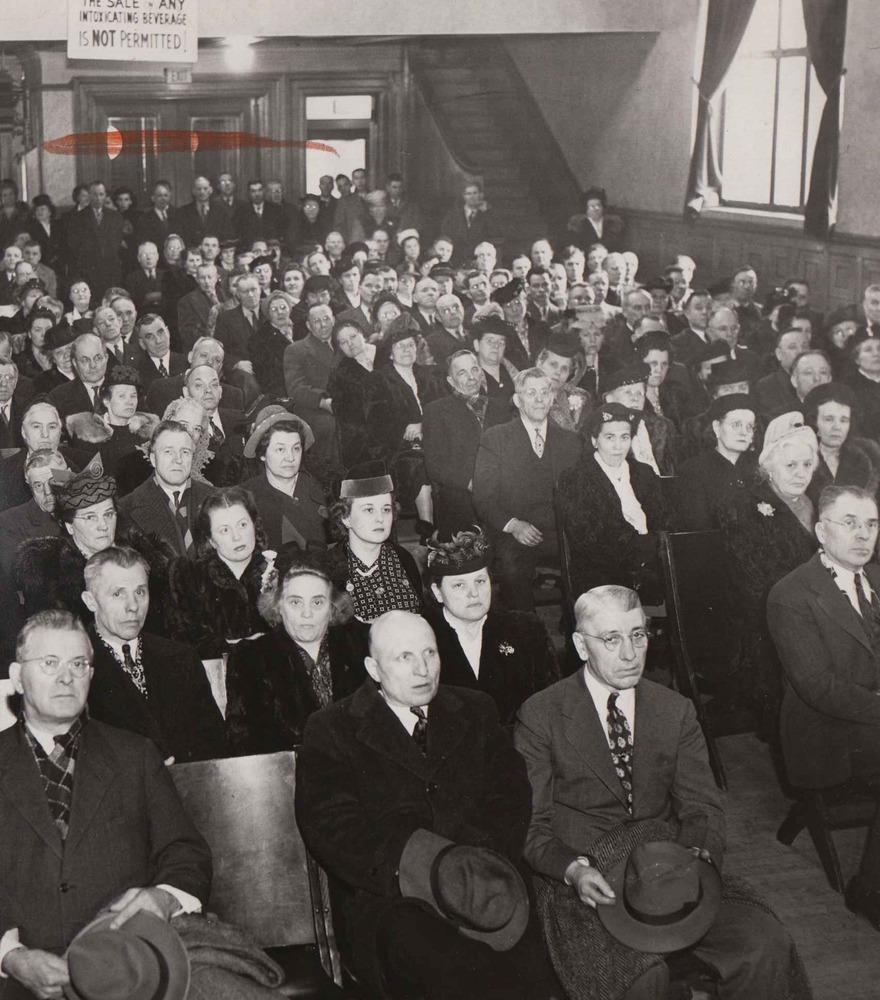 Event at Ukr. Nat'l Home, 1947