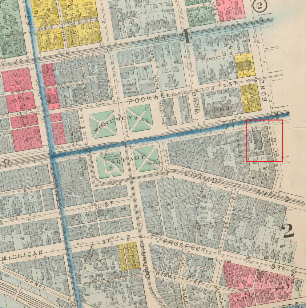 1892 Map of Downtown Cleveland