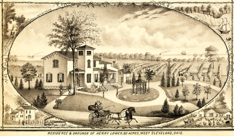 Residence and Grounds of Henry Lower, 1874