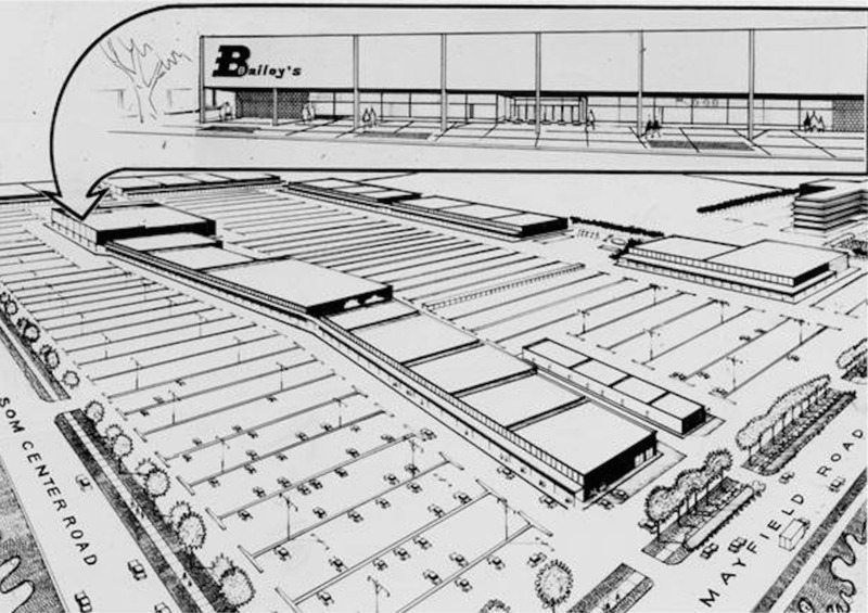 Rendering of Bailey's Eastgate Store, 1959