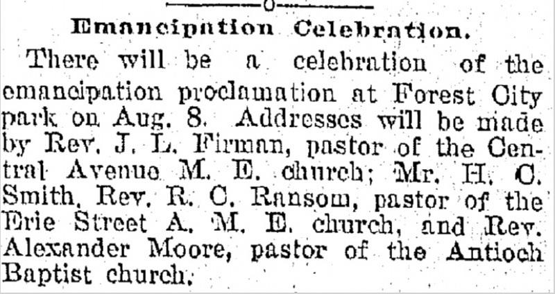 Emancipation Proclamation Celebration at Park