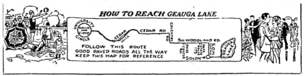 How to Reach Geauga Lake, 1926