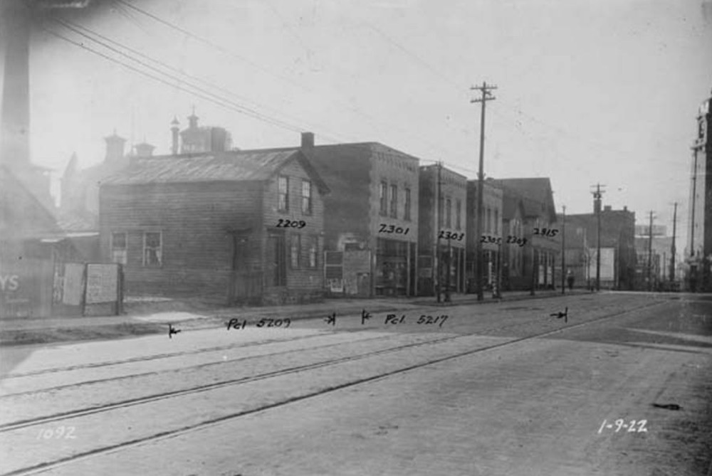 South Side of Abbey Ave. at W. 23rd St., 1922