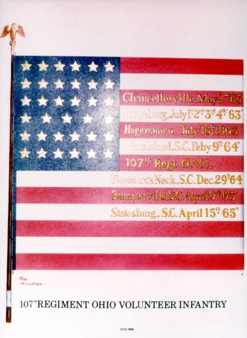 The 107th Ohio Volunteer Infantry Flag