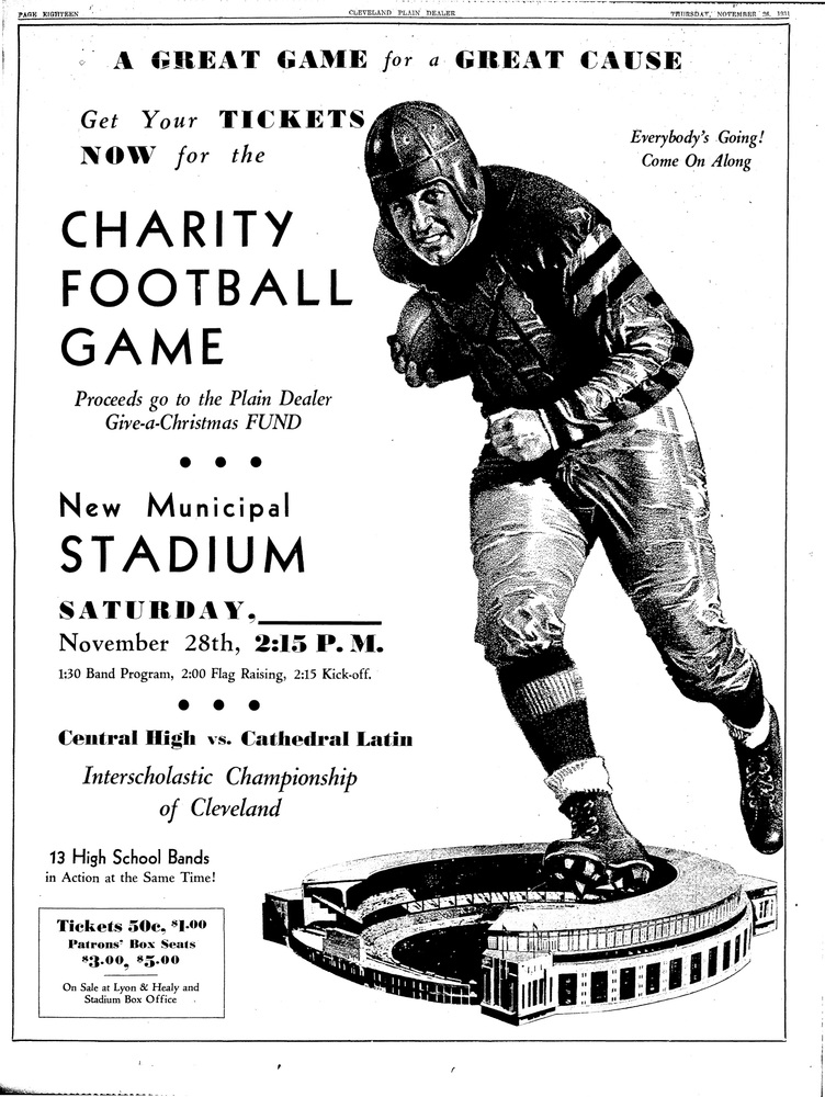The First Charity Football Game