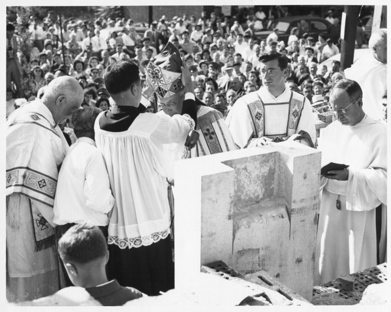 Blessing the Cornerstone