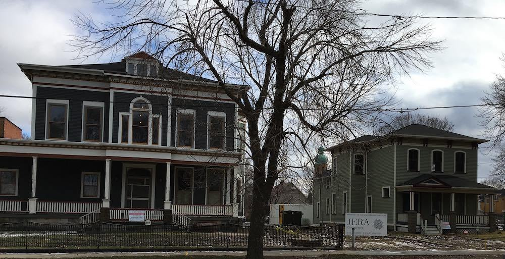 Olney and Higbee Houses Under Renovation, 2016
