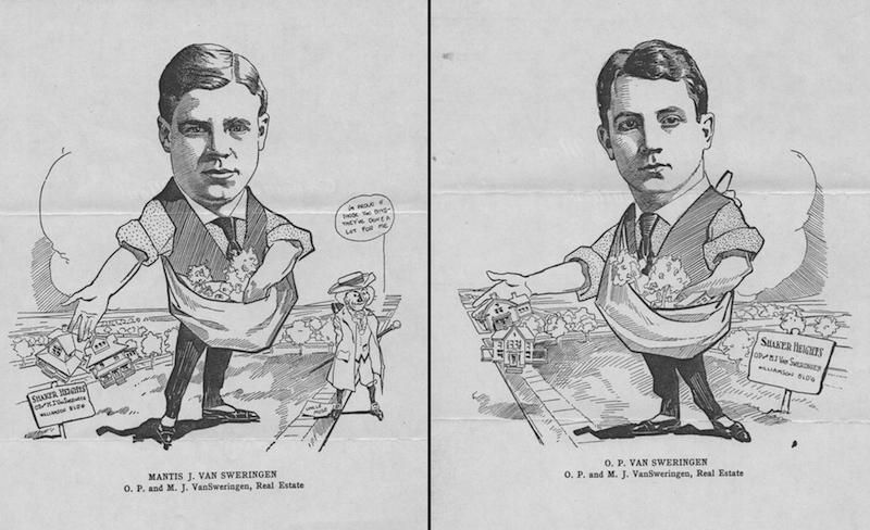 Cleveland Club Men in Caricature