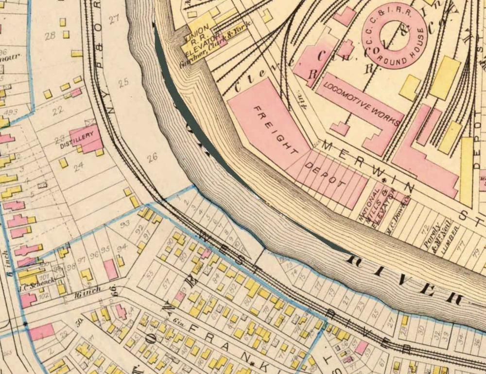 Irishtown Bend in 1881