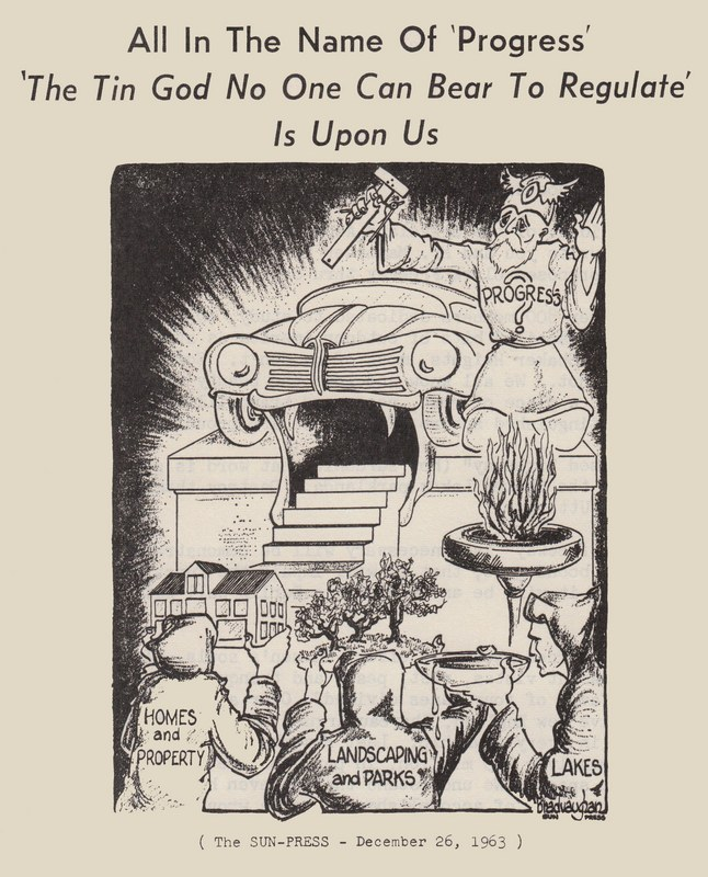 Anti-Freeway Cartoon, 1963