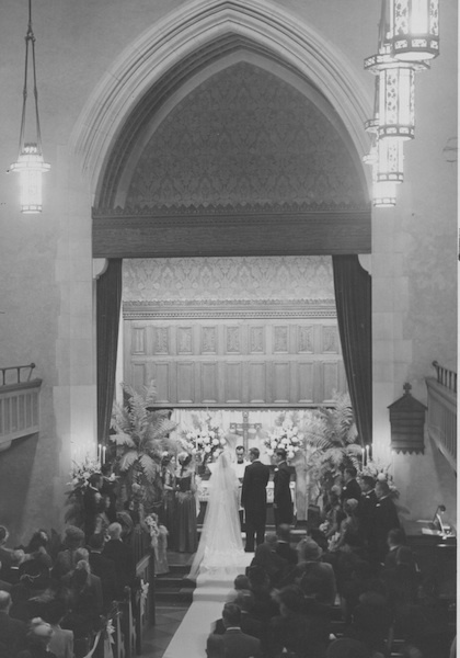 Wedding in Parish Hall, 1947