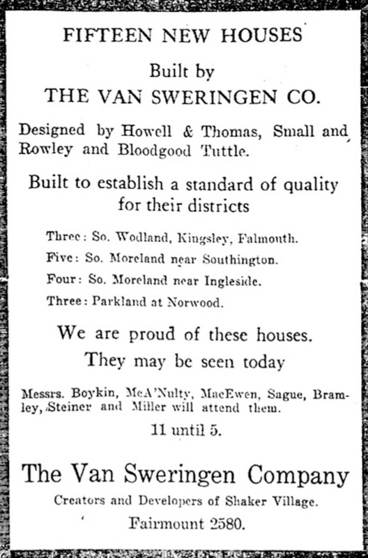 Demonstration Home Ad, 1925