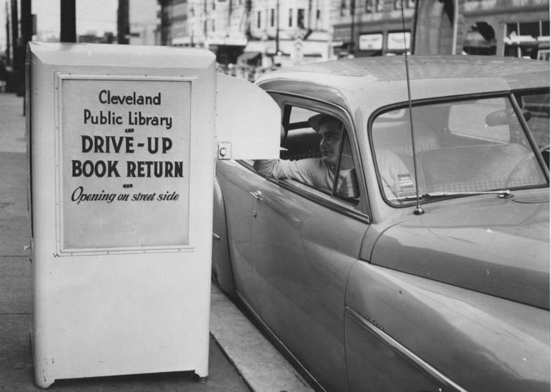 Drive-Up Book Return, 1952
