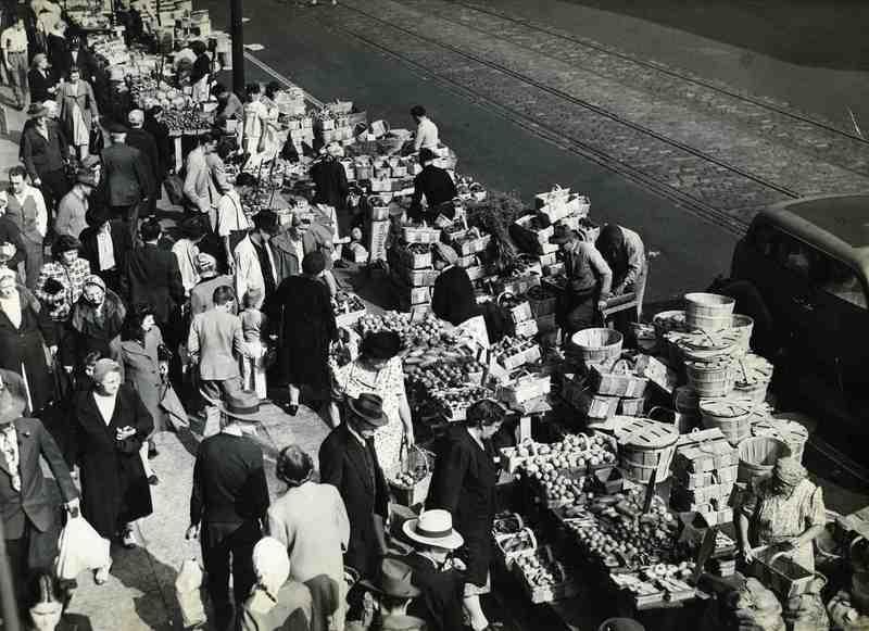 Sidewalk Market, 1946