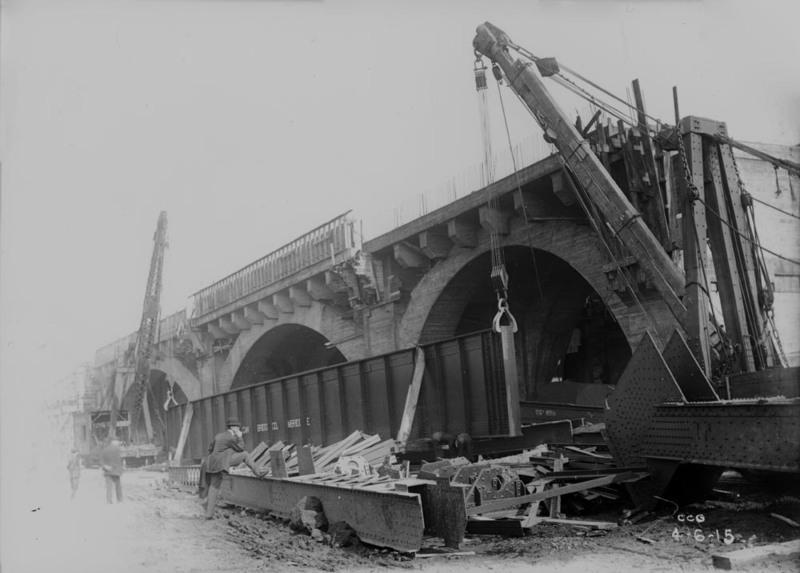 Holton Ave. Bridge Construction, ca. 1915