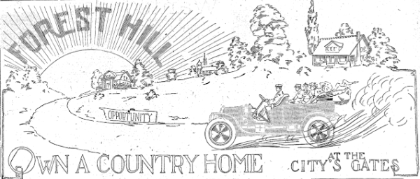 Detail of Forest Hill Ad, 1909