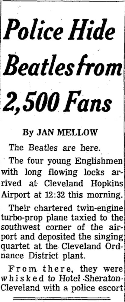 Police Hide Beatles from 2,500 Fans