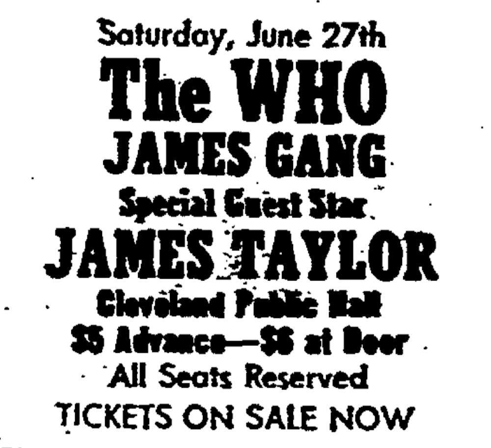 The Who Concert Advertisement