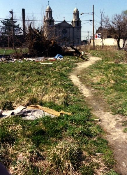 A church and neighborhood in need